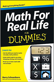 Math For Real Life For Dummies cover image/link to Amazon